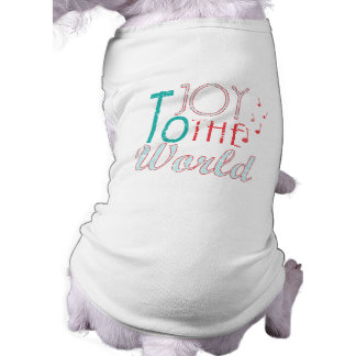 Joy to The World Christmas Typography Music Notes Shirt