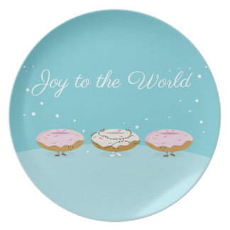 Joy to the World Donuts | Melamine Plate