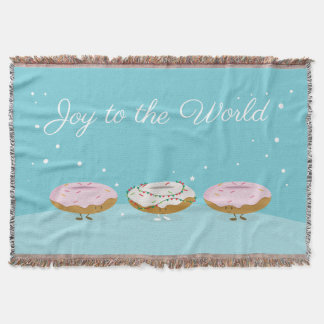 Joy to the World Donuts | Throw Blanket