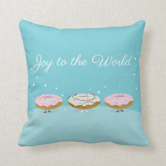 Joy to the World Donuts | Throw Pillow