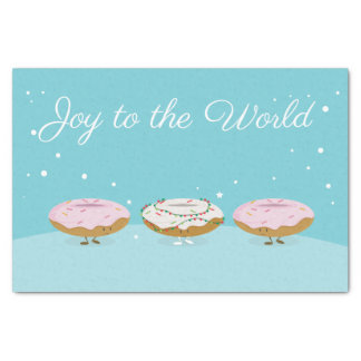 Joy to the World Donuts | Tissue Paper