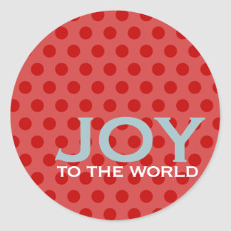 Joy to the World Envelope Enclosure Sticker
