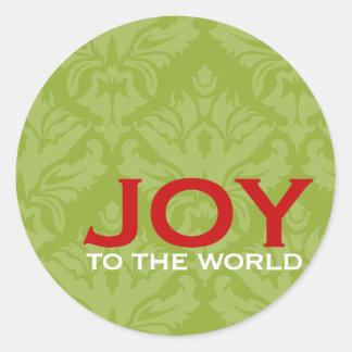 Joy to the World Envelope Enclosure Round Stickers