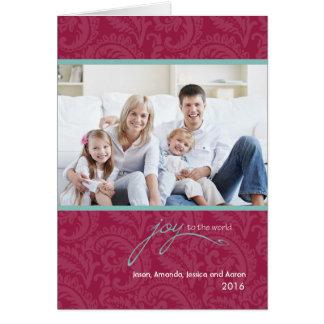 JOY To The World Folded Holiday Card