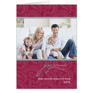 JOY To The World Folded Holiday Greeting Card