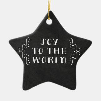 Joy to the World Holiday Christmas Ornament