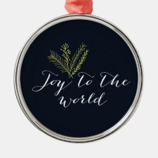 Joy to the World Holiday Ornament