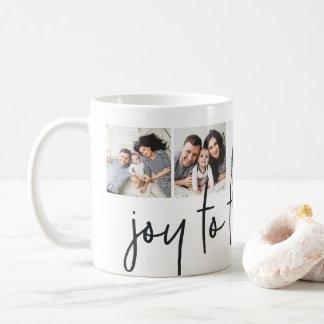 Joy to the World | Holiday Photo Collage Coffee Mug