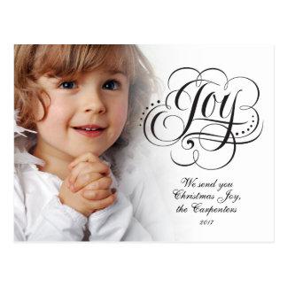 Joy to the World Religious Christmas Calligraphy Postcard