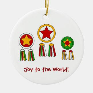 Joy to the World! Round Ceramic Decoration