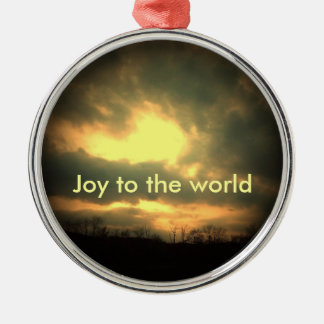 Joy to the world Silver-Colored round decoration