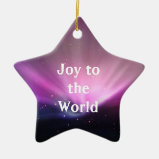 Joy to the World Star Ornament