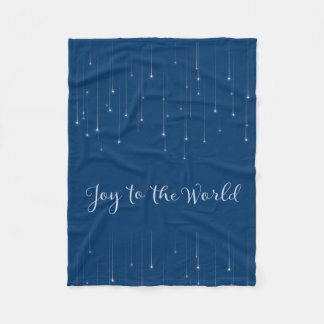 Joy to the World Starry Night Fleece Blanket