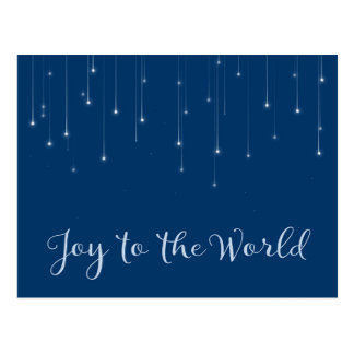 Joy to the World Starry Night Postcard
