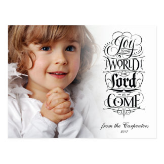 Joy to the World the Lord is Come Christmas Type Postcard