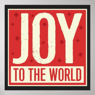 Joy to the World Vintage Art Print