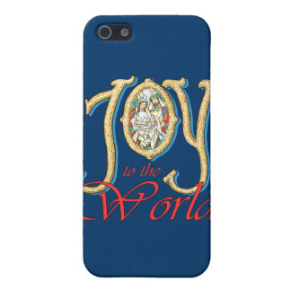 Joy to the World with Stained Glass Nativity Covers For iPhone 5