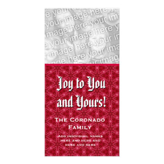 Joy to You and Yours Photo Card Custom Name