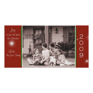 Joy to your and your family Christmas Card Picture Card