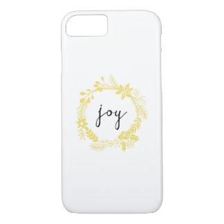 Joy | trendy laurel wreath | yellow iPhone 7 case