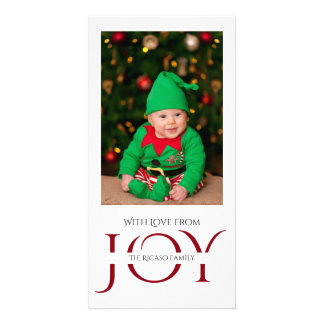 Joy Typography Photo Template Modern Photo Greeting Card