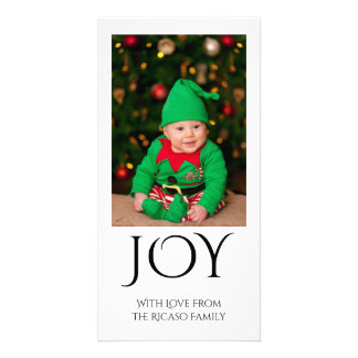 Joy Typography Photo Template Modern Simple Photo Cards
