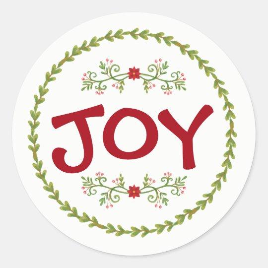 JOY with Holiday Greens | Sticker