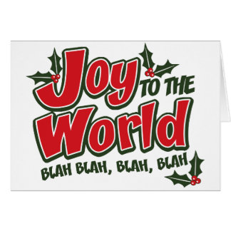 Joy World Blah Blah Greeting Card (light)