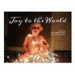 Joy World Holiday Photo Christmas Wishes Family