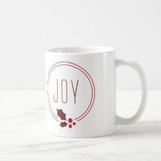 Joy Wreath and Berries Festive Holiday Mug