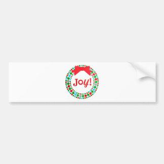 Joy Wreath Bumper Sticker