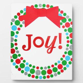Joy Wreath Plaque
