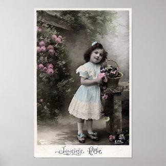 """Joyeuse Fete"" Vintage French Christmas Poster"