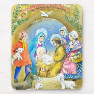 Joyeuse Noel, Vintage French Christmas Card Mouse Pad