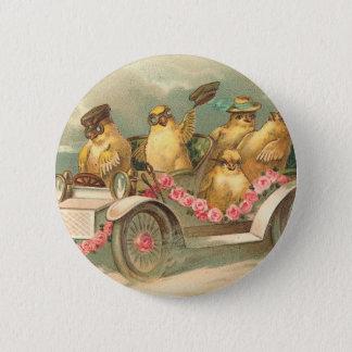 Joyeuses Pâques Cute Vintage Easter 6 Cm Round Badge