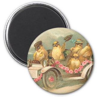 Joyeuses Pâques Cute Vintage Easter 6 Cm Round Magnet