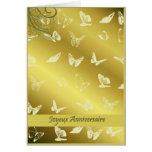 joyeux anniversaire butterflies greeting cards
