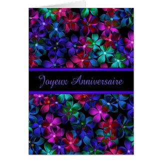 Joyeux Anniversaire French Birthday Valxart-gloss Card