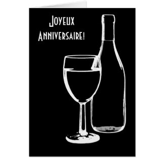 joyeux anniversaire / Happy Birthday French Card