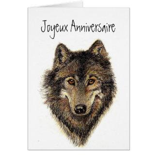 Joyeux anniversaire, Wolf, Wolves, Wild, Nature, Card