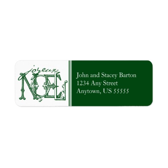 Joyeux Holiday Return Address Label