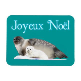 Joyeux Noёl - Ringed Seal Rectangular Photo Magnet