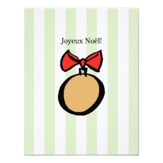 Joyeux Noël 4.25 x 5.5 Linen Invitation