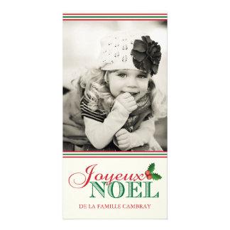 Joyeux Noel (4x8) Customized Photo Card