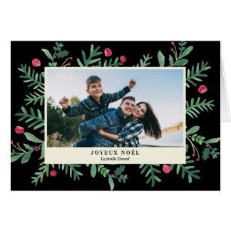 Joyeux Noël Aquarelle | Carte de Noël Card