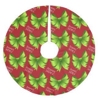 Joyeux Noel Bows Brushed Polyester Tree Skirt