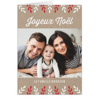 Joyeux Noël   Carte de Noël Card