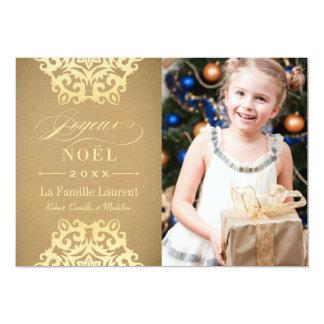 Joyeux Noël Carte-Photo | Papier Kraft et Or Card