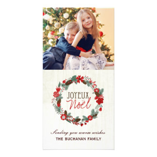 Joyeux Noel Christmas Photo Card