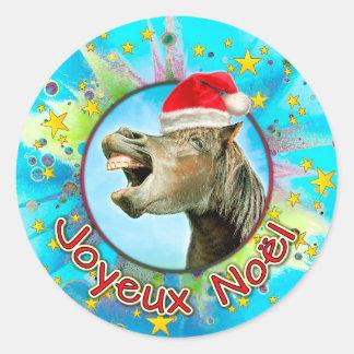 Joyeux Noël Classic Round Sticker